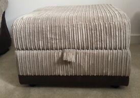 Storage Footstool; DFS Samson Range; 2 years old BRILLIANT condition