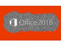 MICROSOFT OFFICE 2016 Pro Plus - WORD, POWERPOINT, EXCEL, OUTLOOK, ACCESS, PUBLISHER, 365
