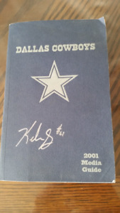 Cool Cowboys Autographed Media Guide Dallas Cowboys  Signed by K