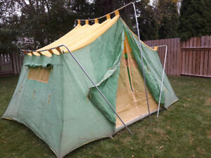 Vintage Canvas Tent - Cabin Style - Good Condition