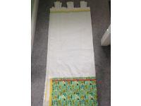 Curtains white with a handmade panel nursery