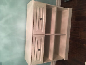 White shelf with drawers
