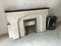 Fire surround, hearth and insert