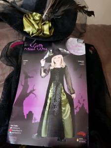 Goth Maiden Witch Costume size 7-8