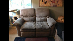 MicroSuede Reclining Couch & Loveseat