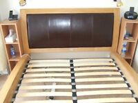 Wooden slatted bed, excellent condition