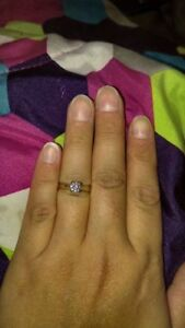Beautiful Huge Engagement Ring white gold solitaire