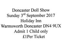 Doncaster Doll Show Tickets For Sunday 3rd September 2017