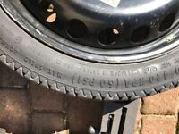 Audi A4 space saver wheel