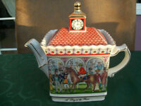 Vintage Collectible Sadler Teapot - A Day at the Races