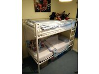 White Metal Bunk Beds (frame only).