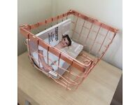 *NEW Stylish Copper storage baskets*