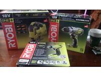 Brand new Ryobi power tool set.. Jigsaw, impact driver & drill