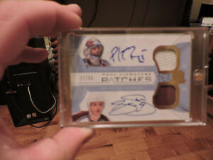 Carte de hockey The Cup SSP de Patrick Roy et Joe Sakic Auto