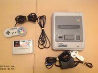 Super Nintendo Entertainment System Console & 1 Game Theme Park SNES