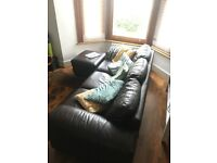 Brown DFS Sofa - 2 years old, mint condition, quick sale needed!