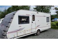 ELDDIS ODYSSEY 534 – 4 berth caravan (fixed double bed)