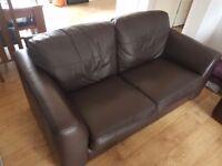 Large leather 2 seater sofa £50