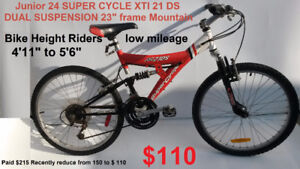 """XL Mountain Bike 26"""" SUPERCYCLE 23 frame height 5'5"""" 6'3"""""""