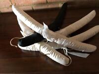 Large qty satin coat hangers ideal for shop or home