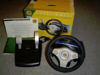 Gamester Official Lotus Dual Force 2 Steering Wheel & Pedals for Playstation 2 PSone Games Console