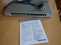 Phillips DVD player, instructions and remote