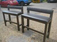 a pair of pub benches