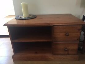 Dark Wood Side Table Cabinet