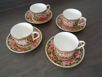 "Wedgwood ""Clio"" Bone China cups and saucers"