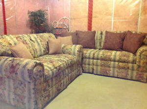Chesterfield and love seat