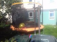 Trampoline & bouncy see saw £90