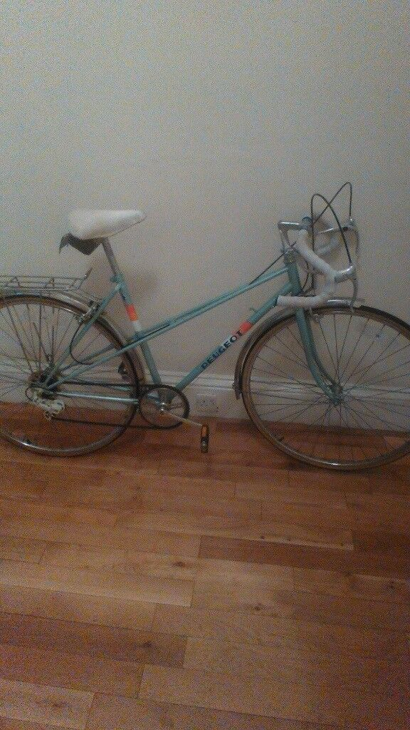 ladies peugeot riviera town bike 20 inch 5 speed fair condition