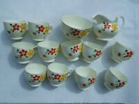 Plant Tuscan china tea cups, plates etc. Pretty hand painted pattern