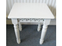 White Side Table, Lamp Table