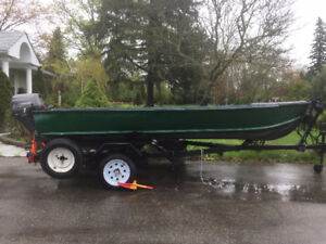 15 Feet bass boat - boat and Trailer