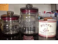 GLASS KILNER JARS - 0.65L & 1.0L WITH SILICONE SEAL PUSH LIDS
