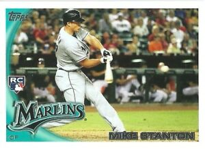 2010 Topps Update Mike Stanton Rookie Card Miami Marlins