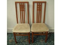2 High Backed Dining Chairs ID 21/8/17