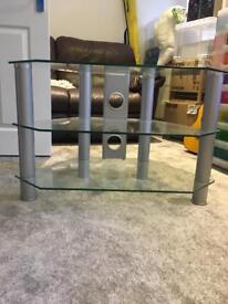 TV stand - glass corner unit