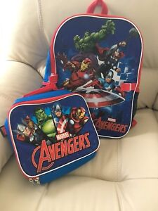 Avengers backpack and lunch bag!