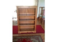 Solid pine book case excellent condition