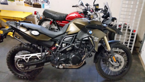 2014 BMW F800GS.  Factory lowered version. LOW KM.  UPGRADES