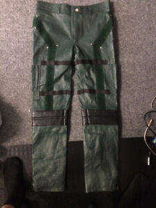 Brand New Green Arrow Pants, Real Leather. Great Price!