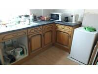 Kitchen units for sale Wood worktop and sink if required