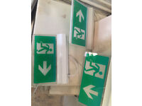 Illuminated LED Fire Exit Signs