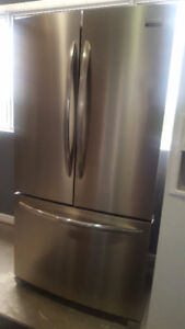 """STAINLESS STEEL 36"""" COUNTER DEPTH FRIDGE SMUDGE PROOF STAINLESS"""