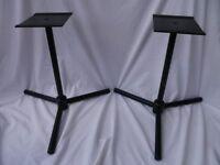 Metal audio speaker stands (pair)