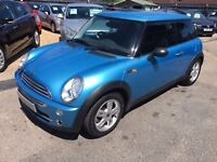 2004/54 MINI ONE,1.6,3 DOOR,METALLIC BLUE,SUNNING LOOKS ,DRIVES REALLY WELL