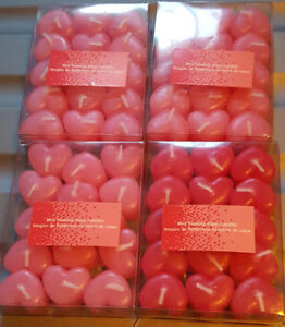 Mini Heart Floating Candles Party Wedding BBQ 4 packages