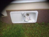 Ceramic 1.0 Bowl Kitchen Sink with Mixer Tap £75